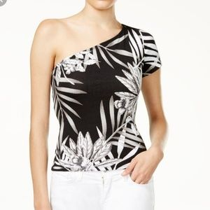 Guess one shoulder palm top